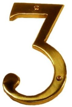 """Brass Accents I07-N5530-613VB Venetian Bronze Address Numbers Traditional 6"""" Raised Numeral 3 by Brass Accents. $17.98. Brass Accents I07 N5530 Address Numbers Venetian Bronze Address Numbers Home Accents 3 Traditional 6"""" Raised Numeral 3"""