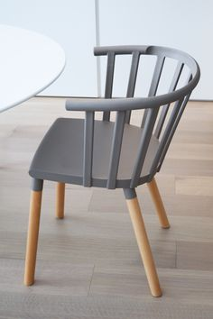 Kaptain chair by Kvell. A fresh, modern take on the traditional captain chair, Kaptain is a versatile piece suited to both living and dining spaces. Durable and easy to maintain, Kaptain will see you through the years. Chair Bench, Kitchen Living, Benches, Home Kitchens, Dining Chairs, Traditional, Fresh, Spaces, House Styles