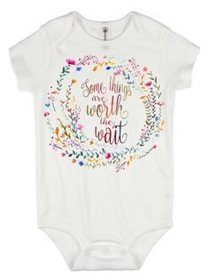 Baby Announcing Ideas Discover Rainbow Baby Onesie Some Things are Worth the Wait Special Baby Gift Rainbow Shower Gift Pregnancy After Loss Rainbow Baby Gift Baby My Baby Girl, Our Baby, Baby Love, Rainbow Baby Onesie, Rainbow Baby Quotes, Baby Shower Gifts, Baby Gifts, Pregnancy After Loss, Pregnancy Info