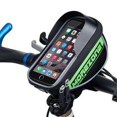 """MOREZONE Marca Mountain Road Sacchetto Della Bici 1.7L Touchscreen Bicicletta Borsa Ciclismo Anteriore Telaio Superiore Manubrio Sacchetto Per 5.5 """"Cellulare"""