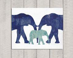 Elephant+Nursery+Art+Print++8x10+by+DeliveredByDanielle+on+Etsy,+$11.00