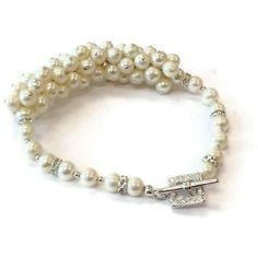 Pearl Bracelet Wedding Bracelet Bride June by jewelrybycarmal, $175.00