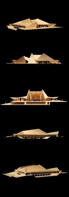 "usfsacd: "" Sam Kuhn, USF School of Architecture, Class of 2014 Core Design ""Design 1 Final: Student Center"" - Fall Prof. Maquette Architecture, Architecture Design, Concept Models Architecture, Futuristic Architecture, Landscape Architecture, Computer Architecture, System Architecture, Architecture Graphics, 3d Modelle"