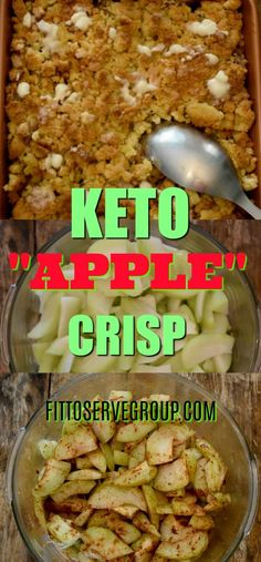What if I told you that there was a way to enjoy the flavor of apples while doing a low carb keto diet? Well, my recipe for keto apple crisp uses chayote squash as a fantastic apple substitute. Keto Apple Recipes, Apple Crisp Recipes, Diet Recipes, Healthy Recipes, Slimfast Recipes, Dessert Recipes, Breakfast Recipes, Breakfast Gravy, Recipes For Apples