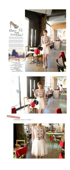 A few things. (1) I like the dress. (2) I don't like the model's creepy contact lenses. (3) It doesn't seem like the people who made this fake fashion mag layout expected any English speakers to read their filler text. Hahaha.
