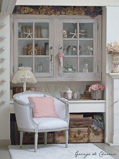 Petit fauteuil blanc - Grange de charme