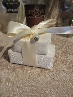 Winter White Textured Paper Wrapped Guest by somethingdifferentsd, $8.00