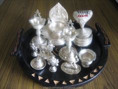To Clean/Polish Silver Silver Jewellery Indian, Silver Jewelry, Silver Cutlery, Silver Pooja Items, Silver Lamp, Silver Furniture, How To Clean Silver, Gold Shower, Pooja Room Design