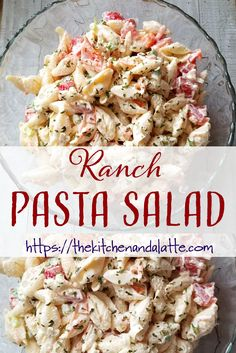 Ranch pasta salad is easy to make with a twist on a classic BBQ side dish. Ranch pasta salad is easy to make with a twist on a classic BBQ side dish. Bacon Ranch Pasta Salad, Easy Pasta Salad, Homemade Pasta Salad, Pasta Salad For Kids, Crab Salad, Shrimp Salad, Chicken Salad, Pasta Recipes, Healthy Recipes