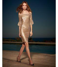 90b215604e7 Shop for Antonio Melani Sabo Off the Shoulder Bell Sleeve Sequin Dress at  Dillards.com
