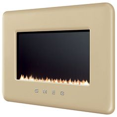 Buy Smeg Flueless Gas Fire, Cream from our Fires range at John Lewis & Partners. Flueless Gas Fires, Coastal Homes, Ideal Home, New Homes, Lounge, Modern, John Lewis, Dining Room, Interiors