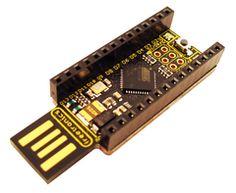 Freetronics LeoStick (Arduino Leonardo compatible) angle view