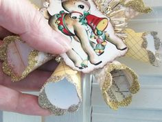 Vintage Retro Style Rudolph Reindeer Star by TheUglyDuckling1962, $15.00