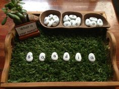 What is your name? using letter-rocks to spell at Puzzles Family Day Care ≈≈