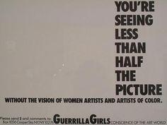 guerilla girls | Tumblr