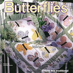 Quick and Easy Butterfly quilting patterns - Out of print patterns available for download http://www.bookdrawer.com/recommends/quick-easy-quilt-butterflies