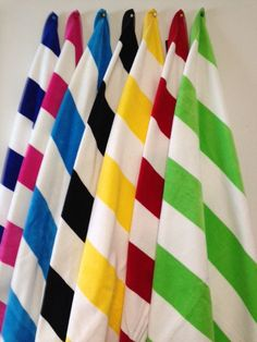 "Cabana Striped Beach Towels (35"" x 60"")"