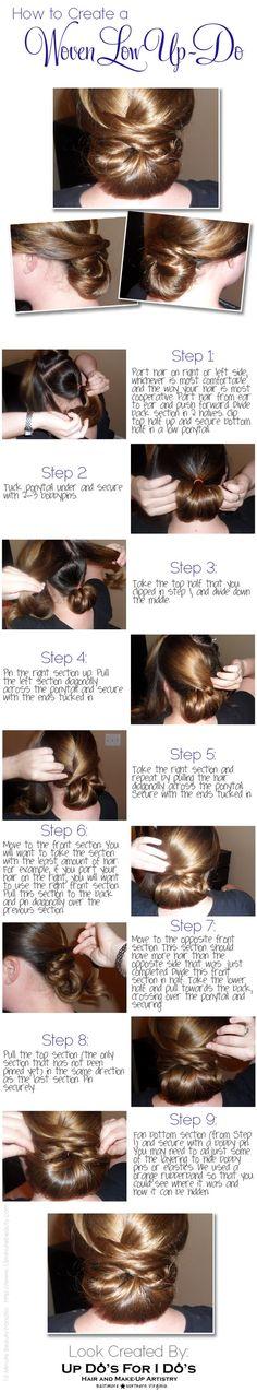 How to Create an Easy Woven Updo! via @15 Minute Beauty