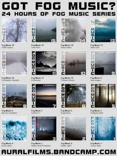 Aural Films Fog Music Project from The CerebralRift http://cerebralrift.org/2014/10/29/aural-films-fog-music-project/  The Aural Films Fog Music Project seeks to release 24hrs of music based on Fog as a theme. Recently Aural Films expanded this into a series of concerts.   #Features