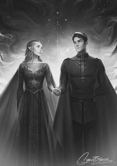 Rhysand and Feyre   A Court of Thorns and Roses Series (credit to Charlie Bowater)