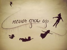 I know this is a Peter Pan thing...but it reminds me of that T-Swizzle song Never Grow Up...ohhh darling don't you ever grow up, wish I'd never grown up, it could still be simple....Peter Pan <3