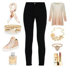 """Sporty look"" by amna15 ❤ liked on Polyvore featuring Joie, STELLA McCARTNEY, Blumarine, River Island, Giuseppe Zanotti, Jimmy Choo and Yves Saint Laurent"