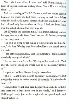 I desperately wish they would have put this scene in the movie. Once again, proof that the book is always better. :) Harry Potter Quotes, Harry Potter Universal, Harry Potter Fandom, Tonks And Lupin, Must Be A Weasley, No Muggles, Yer A Wizard Harry, Mischief Managed, Hogwarts