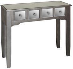Buy Opera Mirrored 4 Drawer Console Table online by Pd Global Furniture from CFS UK at unbeatable price. Hall Furniture, Living Room Furniture, Contemporary Style Homes, Hazelwood Home, Wood Glass, Home Renovation, Console Table, Entryway Tables, Living Spaces