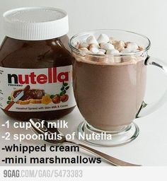 Nutella Hot Chocolate: A New Way to Gain Weight for winter time :DDD