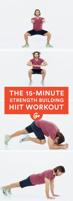 Work every muscle in your body with this speedy bodyweight circuit. #quick #HIIT #workout https://greatist.com/move/timed-hiit-workout