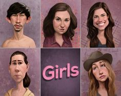 """HBO Girls - For """"A tribute to Judd Apatow"""" show at Gallery1988  Blake Loosli 