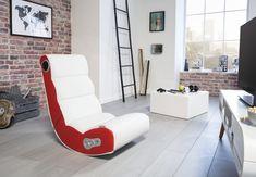 Wohnling Wooble Soundchair Rot Mit Bluetooth WL8.017 Aus Kunstleder # Wohnzimmer #Gaming Sessel
