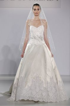 Eve of Milady - Bridal Fall 2013    TAGS:Floor-length, Strapless, Ivory, Eve of Milady, Jewelled, Silk, Tulle, Princess