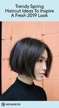 9 trendy haircuts to inspire your pre-Spring chop 9 trendy haircuts to inspire your pre-Spring chop,Hair Ready for a new look? Check out these trendy haircuts for fresh ideas. beauty inspiration for thin hair bob haircuts bob hairstyles Bob Style Haircuts, Bob Hairstyles For Fine Hair, Hairstyles Haircuts, Asian Bob Haircut, Short Trendy Haircuts, Teenage Hairstyles, Lob Haircut, Simple Hairstyles, Formal Hairstyles