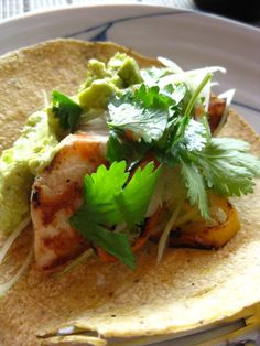 Grilled sea bass tacos!