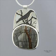 Picasso jasper piece by ?; wonderful interpretation of the branch-like pattern in the stone.