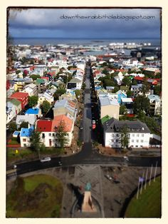"""Photograph Reykjavik from above at Hallgrimskirkja Church in Iceland. Find out more at """"Down the Wrabbit Hole - The Travel Bucket List"""". Click the image for the blog post."""