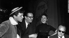 eydie gorme | Eydie Gorme and her husband (far left) at a rehearsal in the late ...