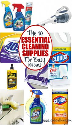 The 10 Essential Cleaning Supplies for Busy Moms