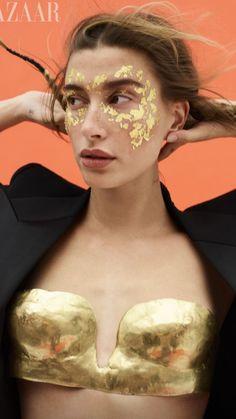 Hailey Baldwin, Falke Socks, Balenciaga Top, Anthony Vaccarello, Learn To Love, Harpers Bazaar, Body Shapes, Love Her, Halloween Face Makeup