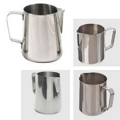 Japan style Thick Stainless Steel espresso Milk Coffee Mugs Cup Caneca Handgrip Thermo Froth Pitcher Steaming Frothing Pitcher