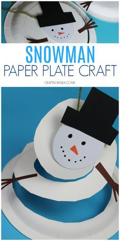 This fun paper plate snowman twirler is a great winter or Christmas craft for kids and a fun way for them to practice their scissor skills too!snowman paper plate craft for kids winter christmas Snowman Crafts, Christmas Crafts For Kids, Jar Crafts, Winter Christmas, Winter Snow, Paper Plate Crafts For Kids, Winter Crafts For Kids, Paper Craft, Handmade Crafts