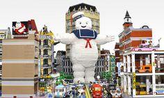 LEGO Stay Puft Marshmallow Man Destroys New York