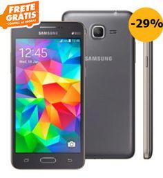 """Samsung Galaxy Gran Prime Duos SM-G531 Cinza com Tela de 5"""" Dual Chip Câmera 8MP Android 5.1 e Processador Quad Core de 1.3Ghz << R$ 56901 >>"""