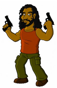 Sayid - Simpsonized, by Dean at Springfield Punx