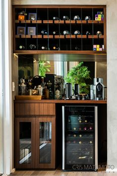 65 Best and Cool Home Bar Design Confused to make a bar room? On the topic of design for our favorite home is to discuss the design of the bar room that will be in our home. Home Bar Counter, Bar Counter Design, Cafe Counter, Home Bar Rooms, Home Bar Decor, Pub Decor, Small Bars For Home, Mini Bar At Home, Bar Home