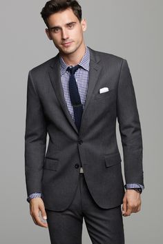 J.Crew's most modern fitting suit in premier Italian wool from Lanificio Di Tollegno, one of the oldest mills in Italy.Fully lined two- button closure jacket and partially lined slim fitting trouser.