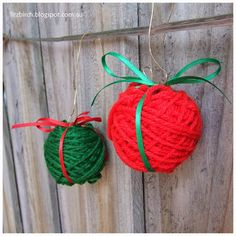 Super Simple Christmas decorations.  Fitzbirch Crafts