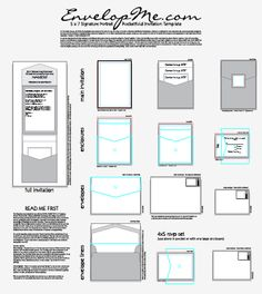 invitation sizes. also on this page: envelope styles/sizes, Wedding invitations