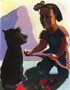 Paula Rego: Girls and Dogs, Dog Women Painting For Kids, Figure Painting, Paula Rego Art, Feminist Art, Australian Art, Girl And Dog, Art For Art Sake, Fine Art, Portraits